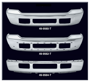 Chrome Front Bumper For 2008-10 Ford F-250 Super Duty w// Moulding Pad Holes