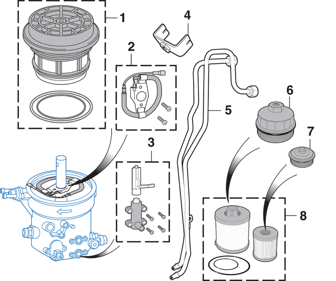 Fuel Filter and Components