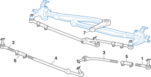 Steering Components - 2 Wheel Drive