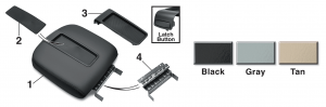 Center Console Lid Kit - Bucket Seat