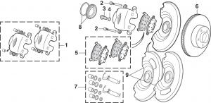 Front Disc Brake Components