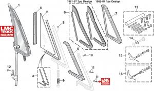Vent Window Components