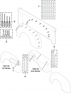 Stepside Fender Attachment Components