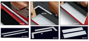 Billet Door Sill Plate Set and Threshold Plate Sets