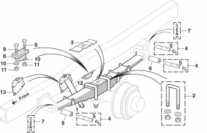 Rear Suspension - 3/4 Ton