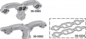 Exhaust Manifold - 283 Engine