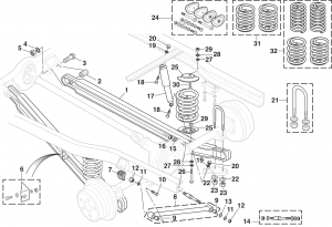 Rear Suspension with Coil Springs - 2WD