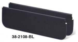 Padded Black Vinyl Sun Visor Set
