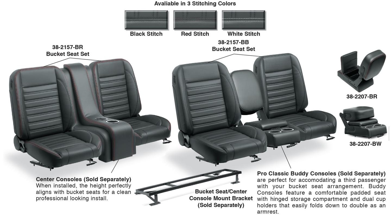 Bucket Seat Set Center Console
