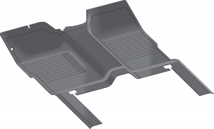 Rubber Floor Mats are One-Piece Replacements for OE Mats