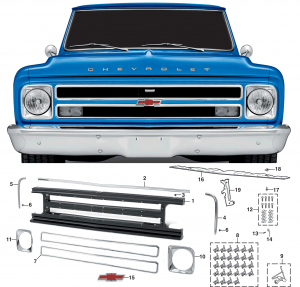 1967-68  Grille For Chevrolets