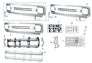 1969-70  Grille for Chevrolet