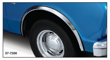 Stainless Steel Fender Molding Covers Rust and Scratches