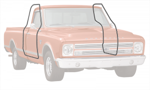 1967-72 Cab Weatherstrip Set - Push On