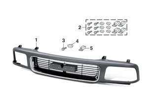 Grille and Components with Composite Headlight for GMC