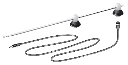 Universal Stainless Steel Dual Post Cowl Mounted Antenna