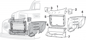 Front Inner Steel Body Parts