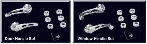 Chrome Door and Window Handle Sets