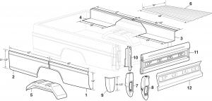 Styleside Steel Bed Panels