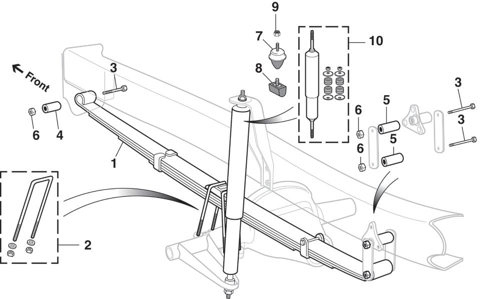 Front Suspension - 4 Wheel Drive