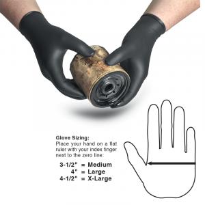 Disposable Black Nitrile Gloves