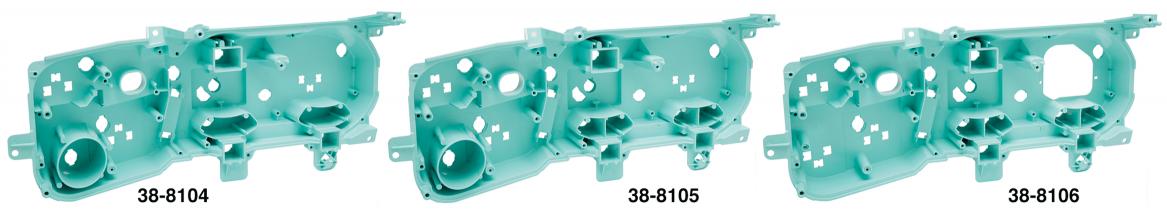 Instrument Cluster Backing Plates