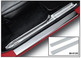 Stainless Steel Front Threshold Plate Set - Plain