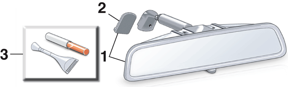 Reproduction Rear View Mirror