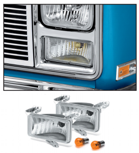 1983-87 with Single Rectangle Headlight 1983-88 Crew Cab