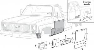 1973-91 Steel Body Patch Panels