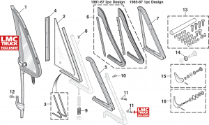 1973-91 Vent Window Components