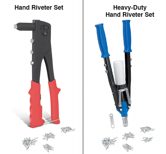 Hand Riveter Set ... Makes Rivet Installation Easy