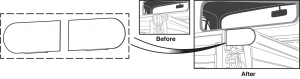 1973-87 Stepside Weld-in Bed Rail End Cap Set
