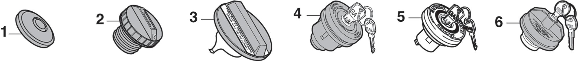 1973-89 Gas Caps