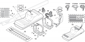 1973-89 Side Mount Gas Tank and Components