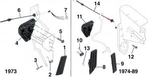1973-89 Accelerator Controls