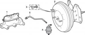 1973-89 Brake Master Cylinder and Components
