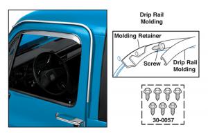 1974-87 Front Drip Rail Molding