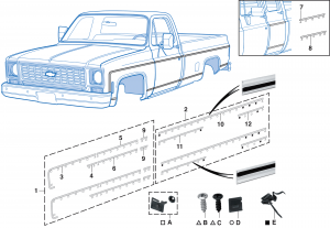 1973-80 Fleetside Side Molding