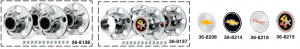 Rally Wheel Hubcaps ... Authentic Look with Real Savings
