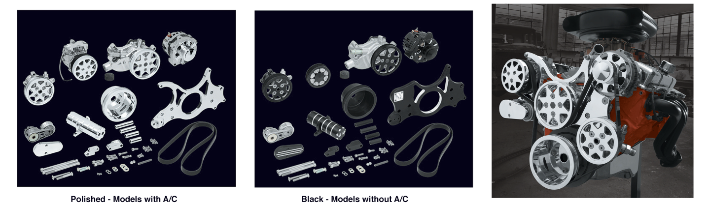 Small Block and Big Block Engine Serpentine Systems
