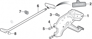1973-89 Parking Brake Pedal Components