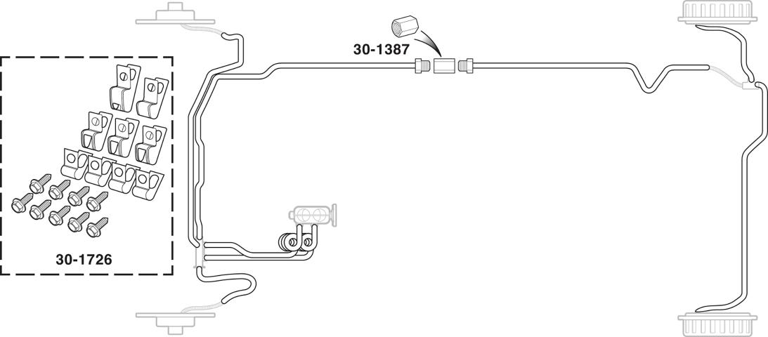 1974-77 Chevrolet Truck 4 WD Front Brake Line Kits TKT7401