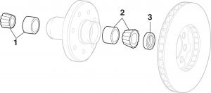 1973-87 Front Wheel Bearings - 4WD