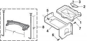 1973-80 Auxiliary Battery Tray