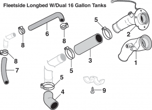 1981-89 Gas Tank Filler Components