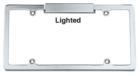 Chrome Lighted License Frame