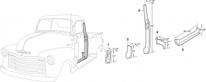 Front Steel Interior Body Parts