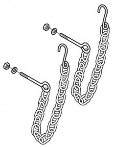 Tailgate Chain Set-Zinc
