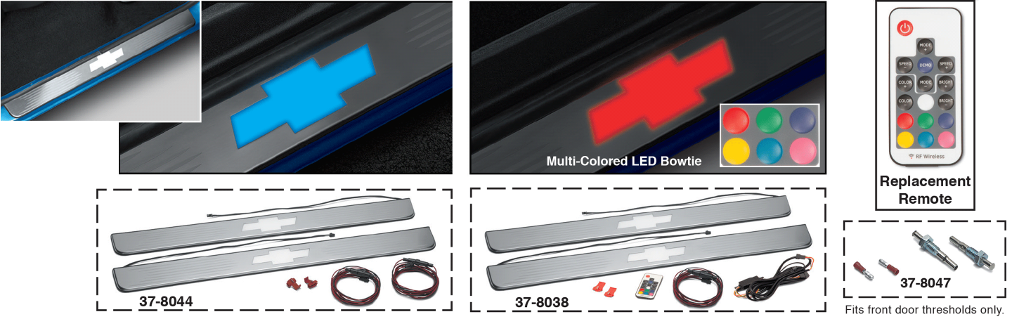 Threshold Plate Sets with LED Bowtie